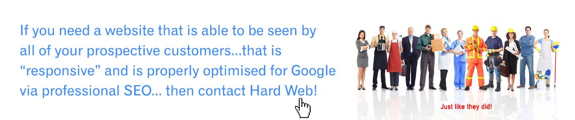 Contact David Thatcher of Hard Web - Just like they did!