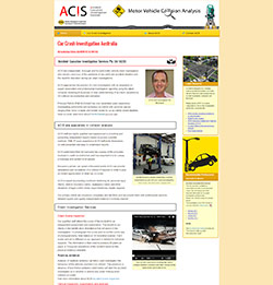 Responsive website for ACIS crash investigations