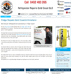 Screenshot of Golden Beach Appliance Repair Gold Coast QLD