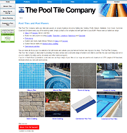 The Pool Tile Company website